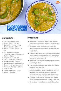 Hyderabadi Mirchi ka Salan | Tasted Recipes Mirchi Ka Salan, Tamarind Paste, Roasted Peanuts, Food Tasting, Coriander Seeds, Secret Recipe, Curries, Recipe Cards, Spicy