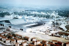 Aerial view of Expo58, Brussels World's fair