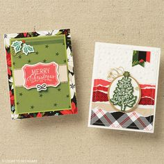 Keep the Christmas card tradition going with a handmade Christmas card made from beautiful, cohesive crafting paper. #cardmaking #crafting