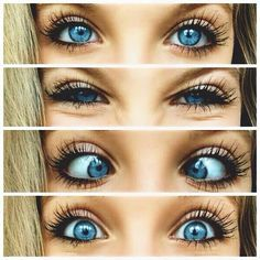 ^Makeup for blue eyes! I am a blue eyed freak!