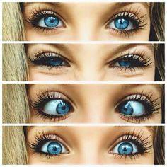 ^Makeup for blue eyes! I am a blue eyed freak!