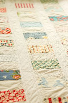 even more pretty colors and patterns on quilt