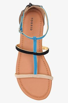 LOVE these Color Block Suede Gladiator Sandals.