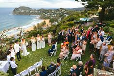 This relaxed Whale Beach wedding was a perfect mix of romance, fun and emotional moments. A rainbow appeared over the couple while celebrating on the beach. Outdoor Ceremony, Wedding Ceremony, Whale, Dolores Park, In This Moment, Beach, Amazing, Photography, Travel
