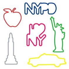 New York CityBandz     SillyBandz are here!  Our NEW City bands feature six different New York City icons including I Love NY, Big Apple, Statue of Liberty, Empire State Building, Taxi Cab and NYPD.  Each set comes with 2 of each design.  Keep one for yourself and trade the other with your friends!      These are a perfect gift or giveaway for any event!