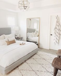 75 Small Girls Bedroom Makeover With Wallpaper Accent Wall 3 - dougryanhomes Bedroom Inspo, Home Decor Bedroom, Bedroom Setup, Neutral Bedroom Decor, Neutral Bedrooms, Bedroom Inspiration, Diy Bedroom, Bedroom Furniture, Tumblr Bedroom