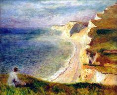 Pierre Auguste Renoir - Cliffson the coast near Pourville