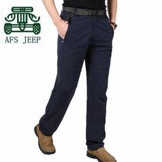 AFS JEEP Summer 2016 Quickly Dry Pants,Army Green/Khaki Dark Blue new designer Man's Thin Loose Breathe Mid Waist Trousers