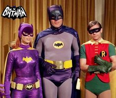 Batgirl, Batman and Robin.