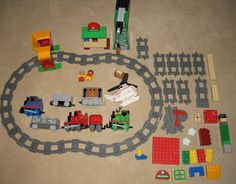 Lego is such a quality product and Thomas the Train so enduring that the Duplo Thomas the Train Engine and Friends sets remain hugely popular with the under five crowd. This lot includes Thomas the Tank Engine, Toby, Percy, Harold the Helicopter and Cranky the Crane. #duplo #lego #thomasthetankengine