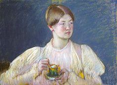 Title: The Teacup, 1897 Artist: Mary Stevenson Cassatt Medium: Fine Art Paper Print