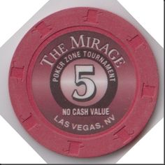 This chip was used in The Mirage Poker Zone Tournaments.  These chips are not normally made available to the public.  I purchased this one from a gambler who kept it accidentally?