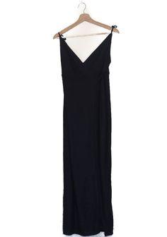Long wrap dress, white and navy, vertical stripes, Zara  Vestido largo pareo, azul marino con rayas verticales blancas, escote espalda