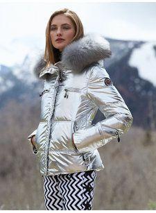 80c79a5993d9 glam silver jacket Girls Ski Jacket, Parka Outfit, Avant Gardiste, Puffy  Jacket,