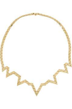 Solange Azagury-Partridge|Triangle 18-karat gold necklace|NET-A-PORTER.COM