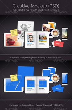 Creative Mockup — Photoshop PSD #psd #drawing paper • Available here → https://graphicriver.net/item/creative-mockup/6765041?ref=pxcr