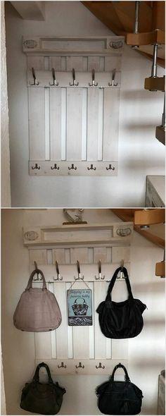 Pallet Coat Hanging Shelf