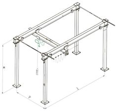 Diy gantry crane garage workshop pinterest shop for Shop hoist plans