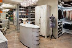 Lisa Adams of LA Closet Design creates 5 unique closets for a condo. Hardwood Floor Colors, Hardwood Floors, Le Closet, Master Closet, Natural Wood Flooring, Closet Lighting, Closet Designs, Walk In Closet Design, Home Technology