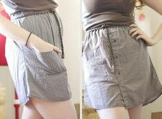 DIY Clothes DIY Refashion DIY: Button Up Shirt to Skirt