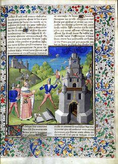 De casibus. Nimrod and the Tower of Babel (vol. 1: folio 5r) Date 1467