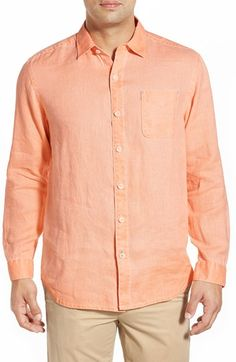 Tommy Bahama 'Sea Glass Breezer' Original Fit Linen Shirt available at #Nordstrom