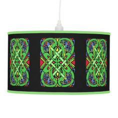 Colorful Ornate Irish Celtic Knot Lamp