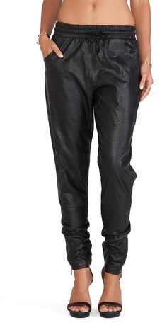 MINKPINK Out Bound Faux Leather Jogger