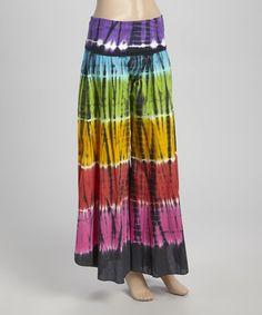 http://www.zulily.com/invite/kripley070 Rainbow Tie-Dye Palazzo Pants #zulily #zulilyfinds