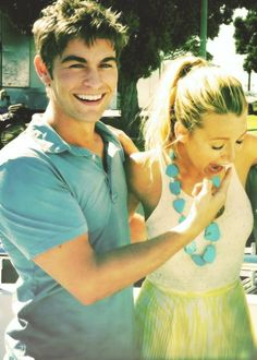 Nate and Serena in Gossip Girl ( Chace Crawford and Blake Christina Lively)