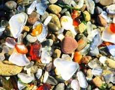 Design You Trust - Glass Beach is a beach in MacKerricher State Park near Fort Bragg, California that is abundant in sea glass created from years of dumping garbage into an area of coastline near the northern part of the town.