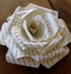 Paper Book Rose Hair Clip by WoulfsCreations on Etsy https://www.etsy.com/listing/199713569/paper-book-rose-hair-clip