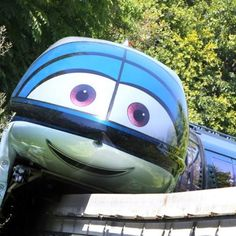 Disneyland Monorail decorated for Cars Land gran opening :)
