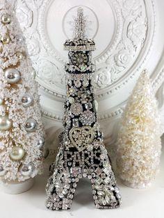 Ms Bingles Vintage Christmas: Christmas in **PARIS** Rhinestone Eiffel Tower...