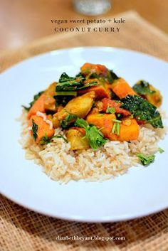 Vegan Sweet Potato Kale Coconut Curry... Must purchase garam masala before making this.