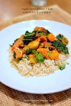 Vegan Sweet Potato Kale Coconut Curry... Must purchase garam masala before making this.