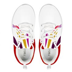 Shoes white with ornaments