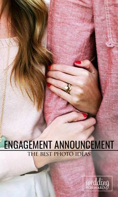We have a list of the most creative ideas on how to announce your engagement. These engagement announcements are sweet, and a must-see! Marriage Announcement, Engagement Announcements, Wedding Album, Wedding Poses, Wedding Ideas, Wedding Photography Tips, Couple Photography, Engagement Couple, Engagement Pictures