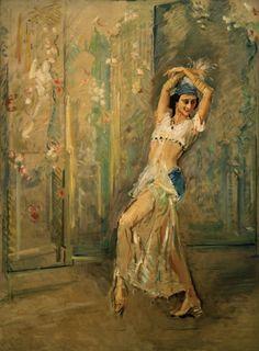 : Anna Pawlowa  Artist: Max Slevogt  Style: Art Nouveau (Modern)
