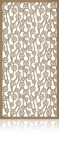 Ажурная декоративная перегородка из фанеры или дерева для зонирования пространства в комнате, квартире, офисе, артикул 33