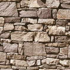 Muriva Dry Stone Wall Effect Grey Wallpaper - Brick Effect Wallpaper, Rustic Wallpaper, Stone Wallpaper, Vinyl Wallpaper, Textured Wallpaper, Wallpaper Ideas, Wallpaper Toilet, Wallpaper Designs, Bedroom Wallpaper