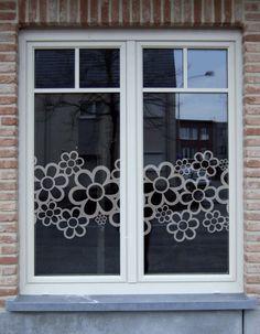 Raamfolie bloemen   Motief raamfolie   Interieurstickers - Atelier Rosa Lyne