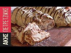 Greek Chestnut sweet bread with white chocolate coating - Tsoureki by Greek chef Akis Petretzikis. A traditional Greek recipe for sweet bread with chocolate! Tsoureki Recipe, Greek Desserts, Greek Recipes, Fun Desserts, Pastry Recipes, Cooking Recipes, Festive Bread, Greek Easter Bread, Deserts