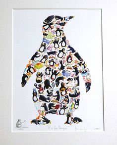 Louise Tate Illustration animal and composite art prints penguin Penguin Art, Penguin Love, Penguins And Polar Bears, Cute Penguins, Tumblr Wallpaper, Somerset, Penguin Pictures, Illustrations, Spirit Animal