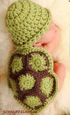 Neugeborenen Mütze Baby Schildkröte Mütze von Schnuffelinis auf Etsy
