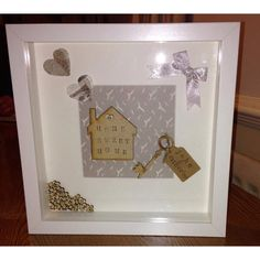 Crafts To Make, Home Crafts, Personalised Frames, Box Frames, Sweet Home, My Etsy Shop, Handmade Gifts, Facebook, Check