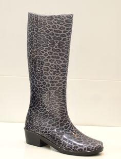 Stivale da pioggia leopardato