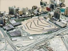The circuit in the Caesars Palace Hotel in Las Vegas used for a Formula One Grand Prix in 1981 and 1982.