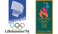 1994:1996 Olympics logos