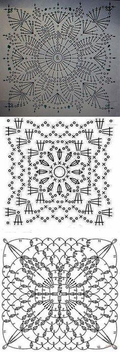 МНОГО-МНОГО Квадратные мотивы для вязания крючком | Уют и тепло моего дома | Крючок - Мотивы | Постила